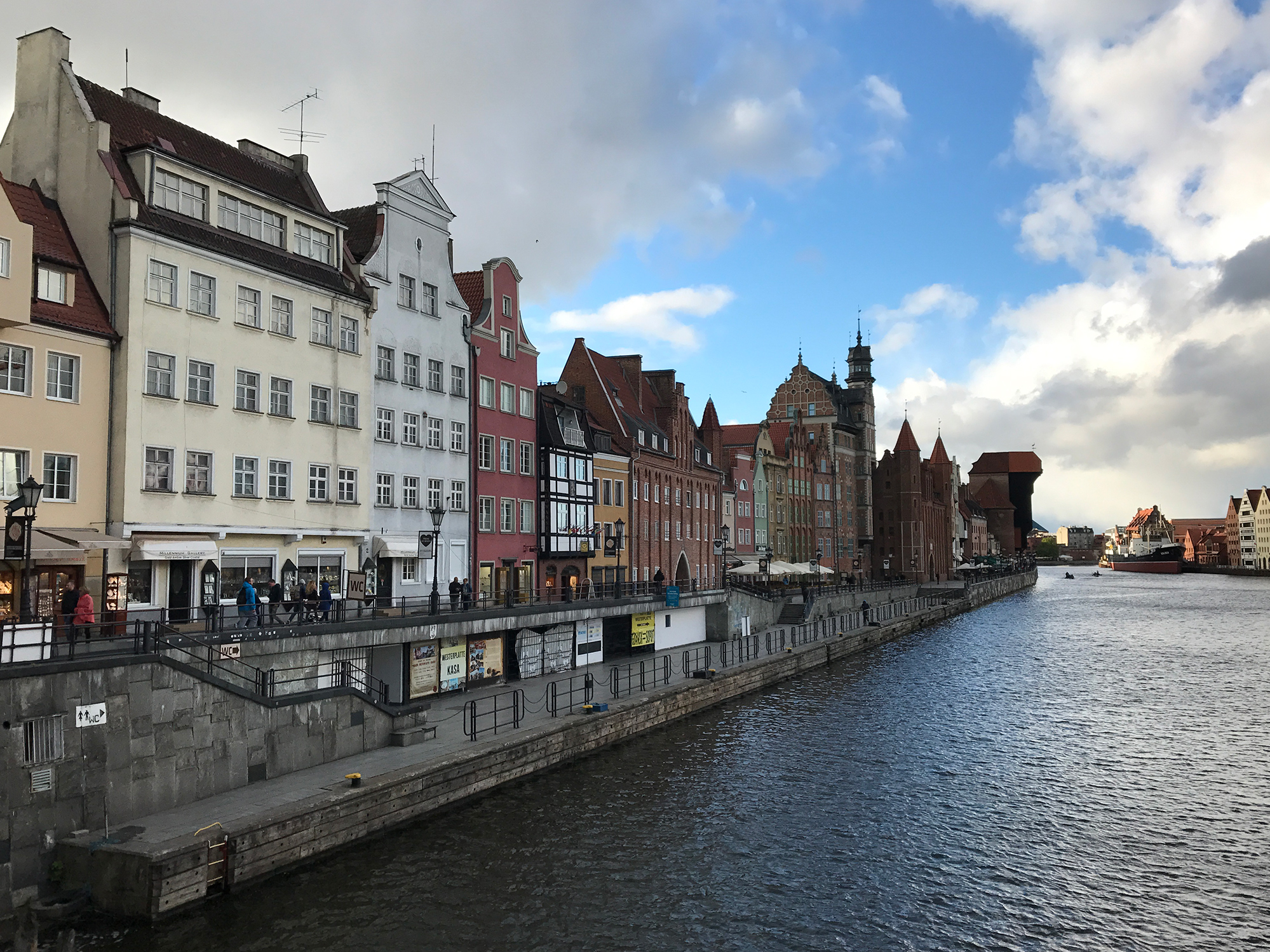 River Motlawa and Old Town, Gdańsk