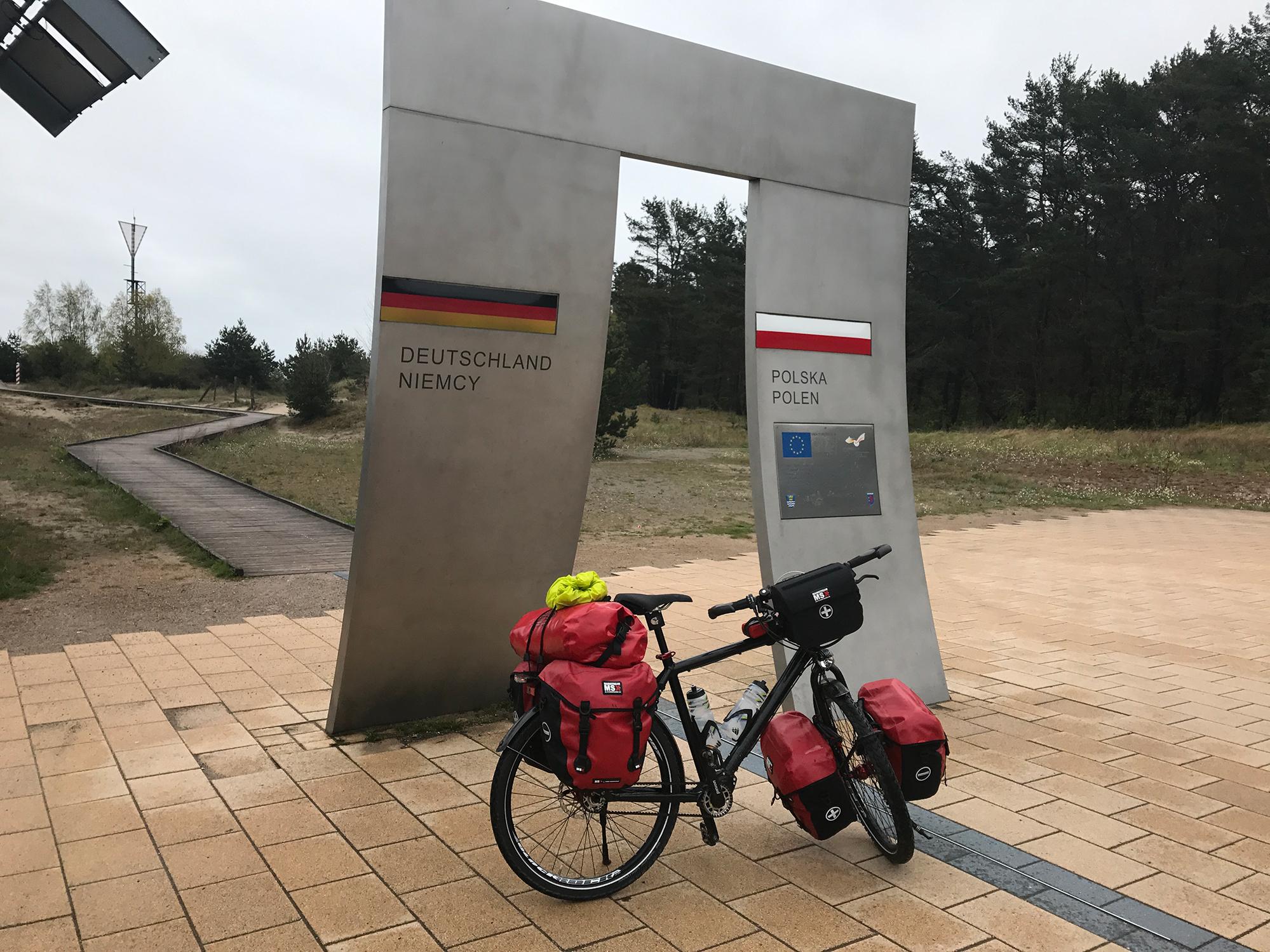 German-Polish border on the EuroVelo 10