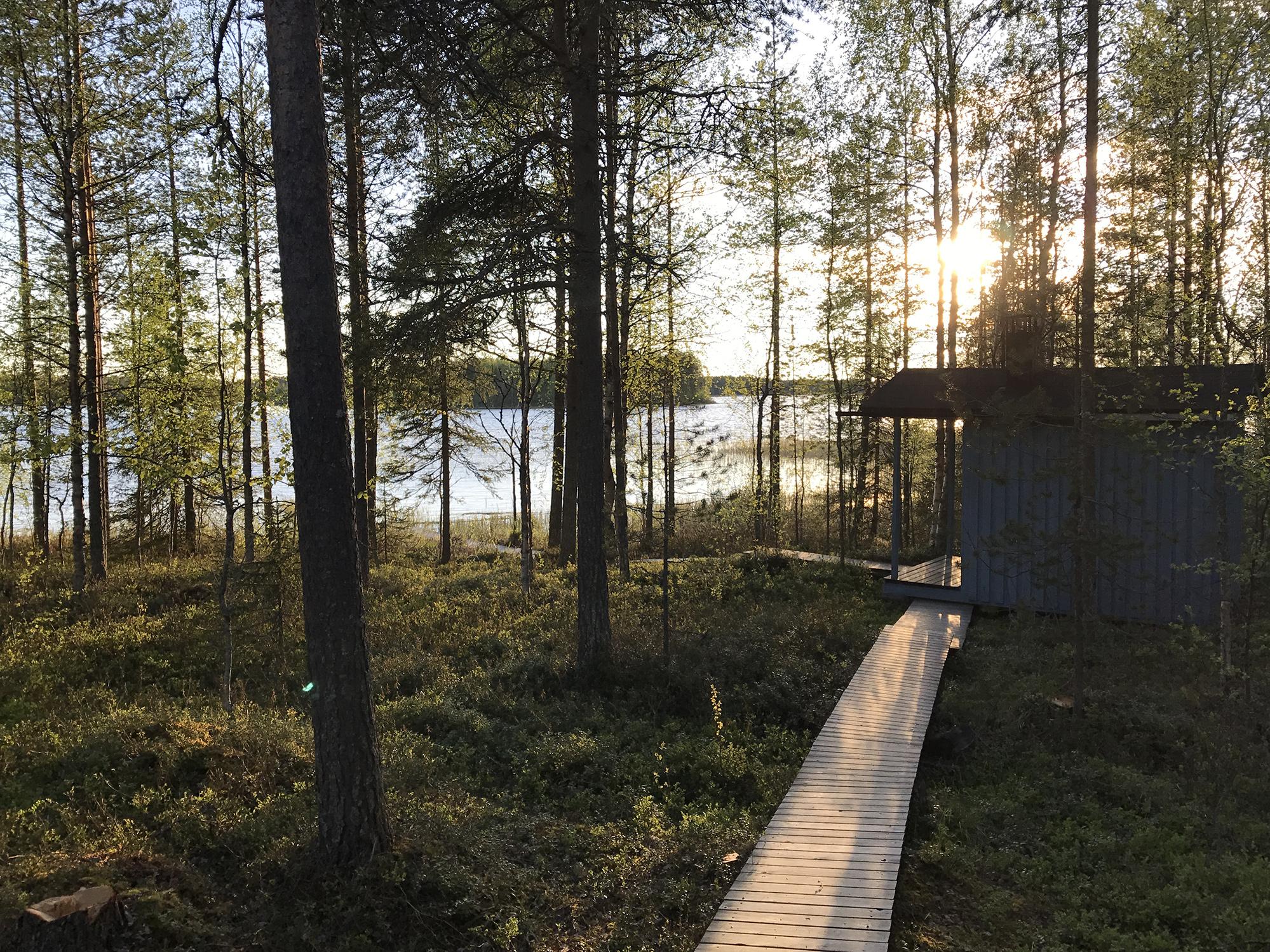 Sauna cabin at lake Pikku-Rävä