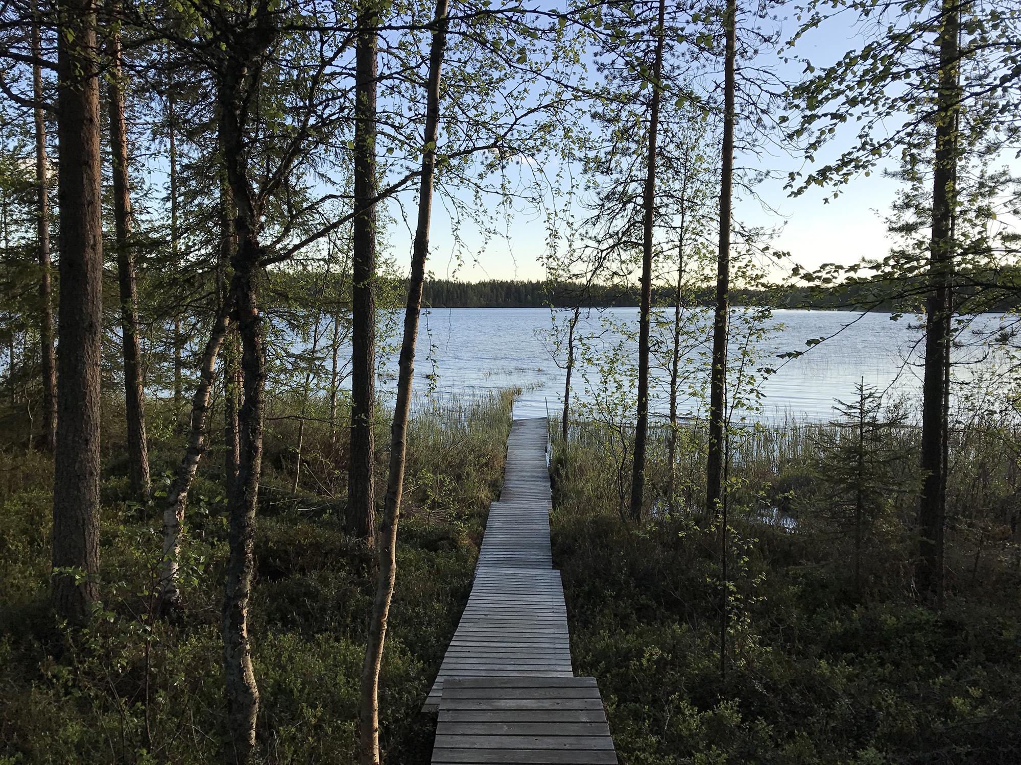 Taking a refreshing bath in lake Pikku-Rävä