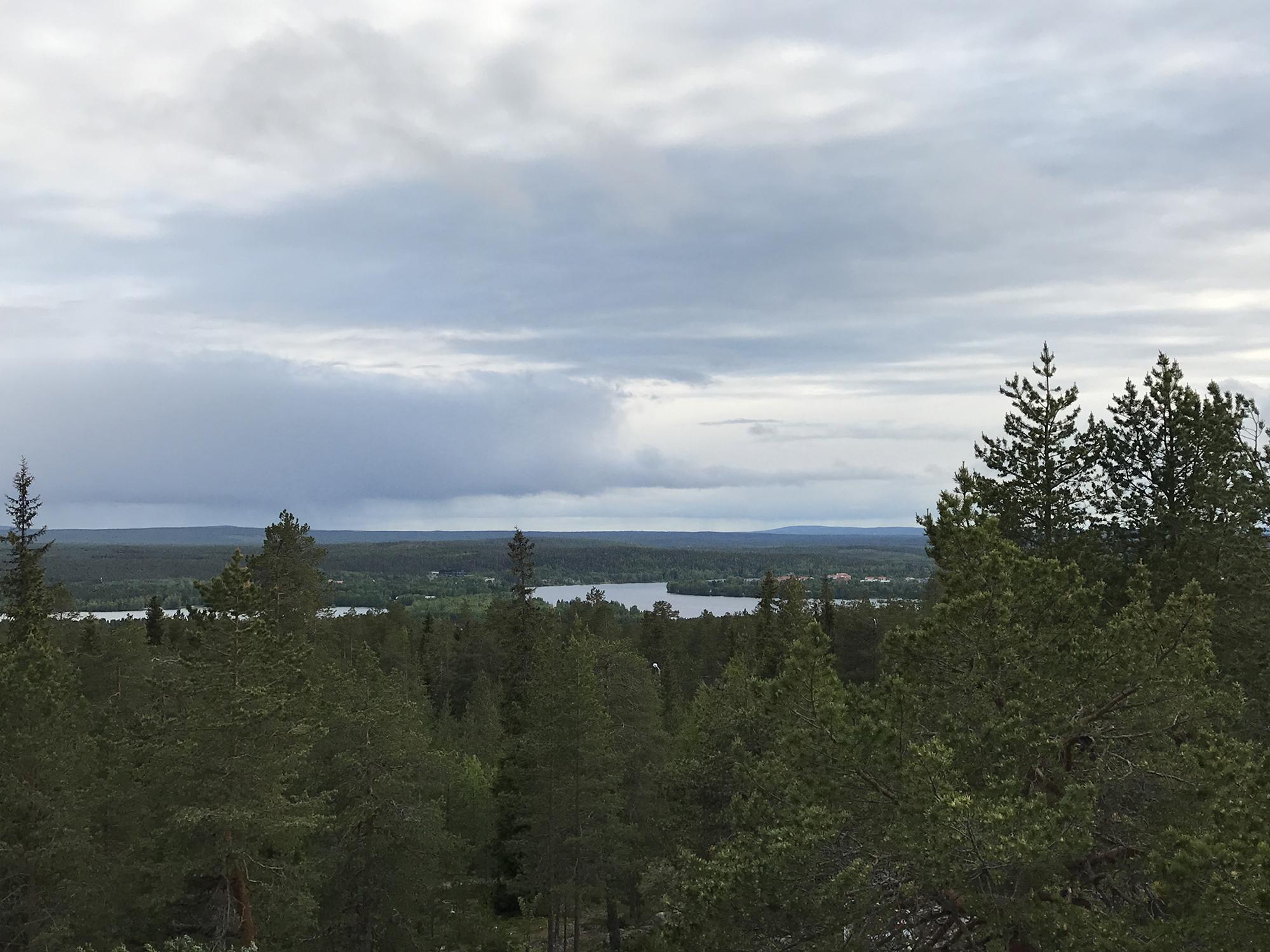 View from Lapland Hotel Sky Ounasvaara near Rovaniemi