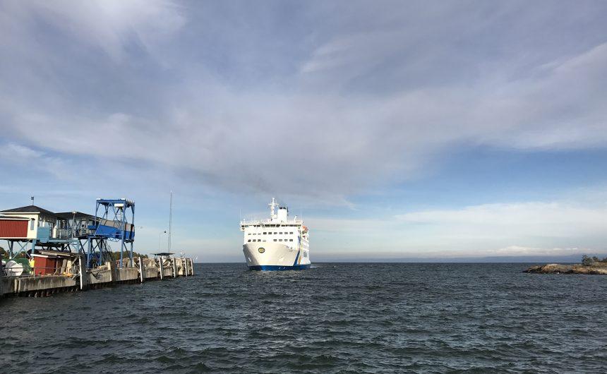 Åland ferry in Grisslehamn